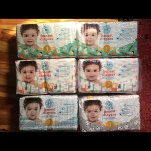 Honest Company Size 1 Diapers (6packs)